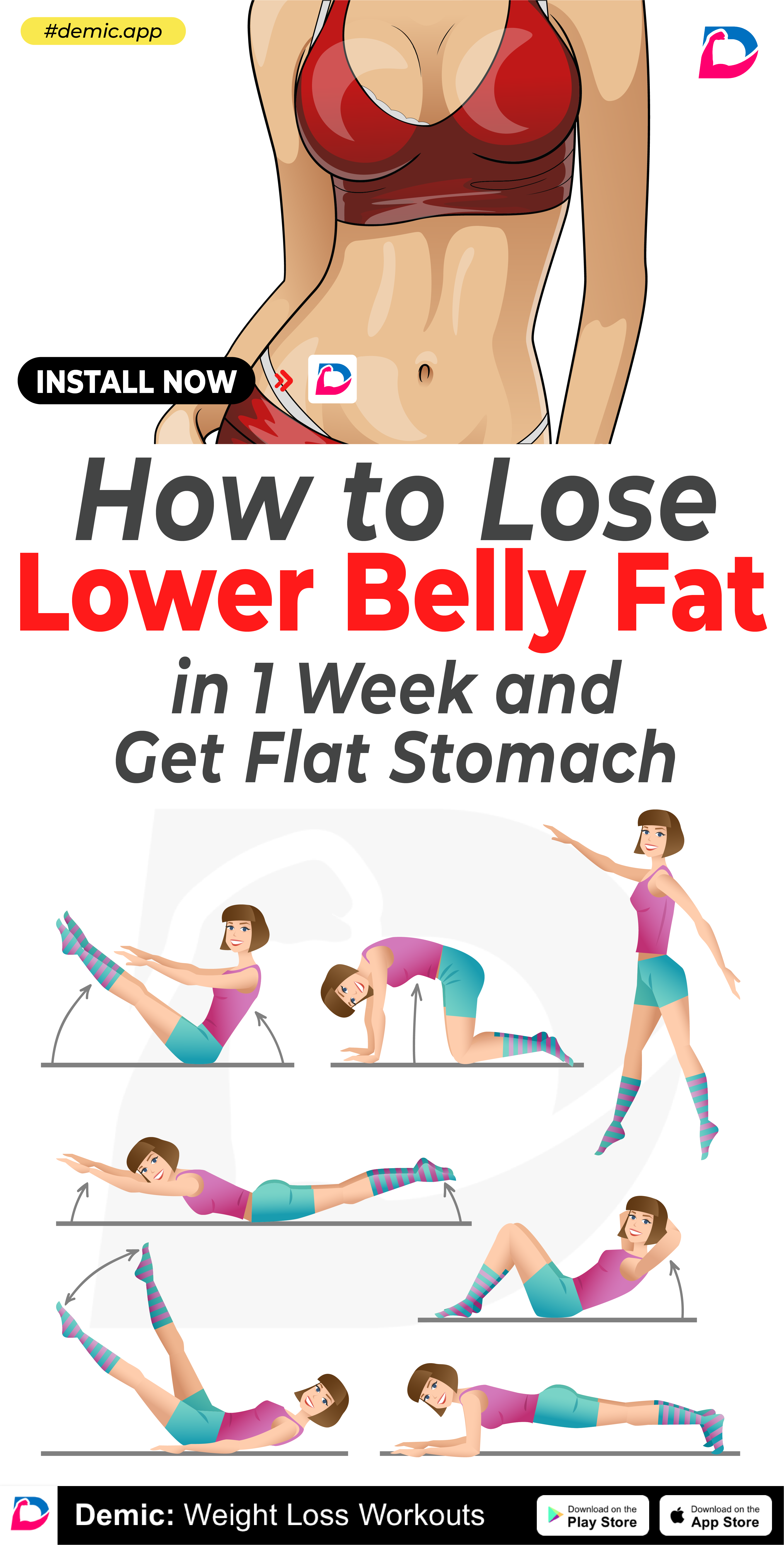 Pin on belly fat workouts