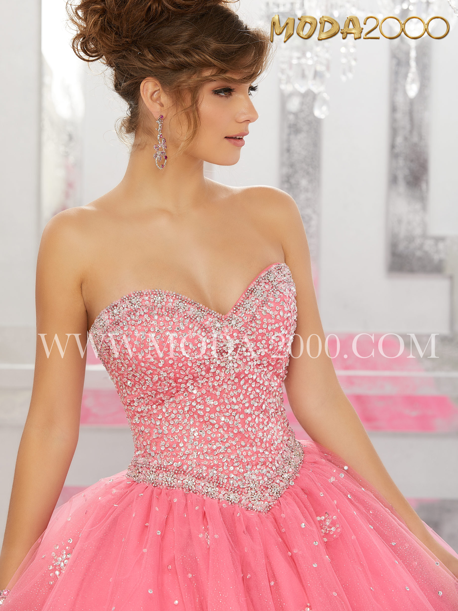 Pink jewels | Elegant and beautiful quinceañera dresses. Find the ...