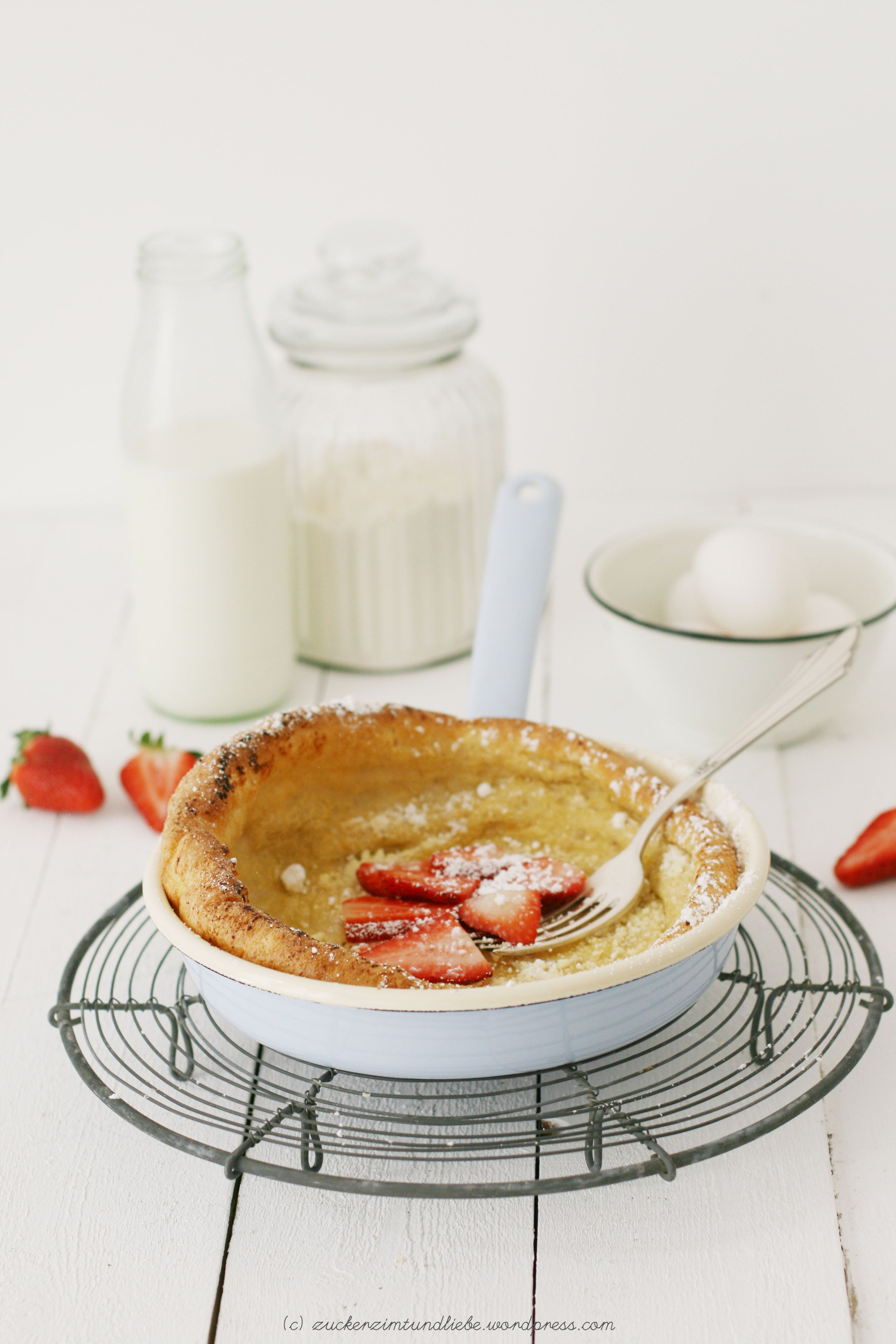 Puffed Pancake Rezept Dutch Babe mit Erdbeeren Recipe