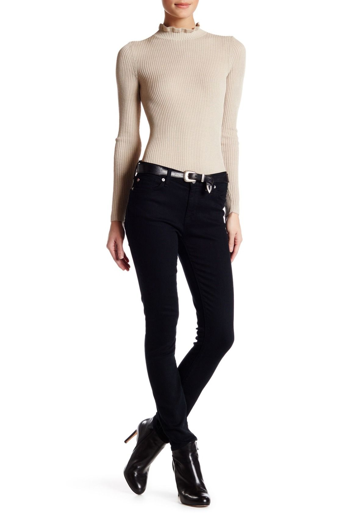 Classic black skinnies!  HUDSON Jeans Nico Mid Rise Super Skinny Ankle Jean