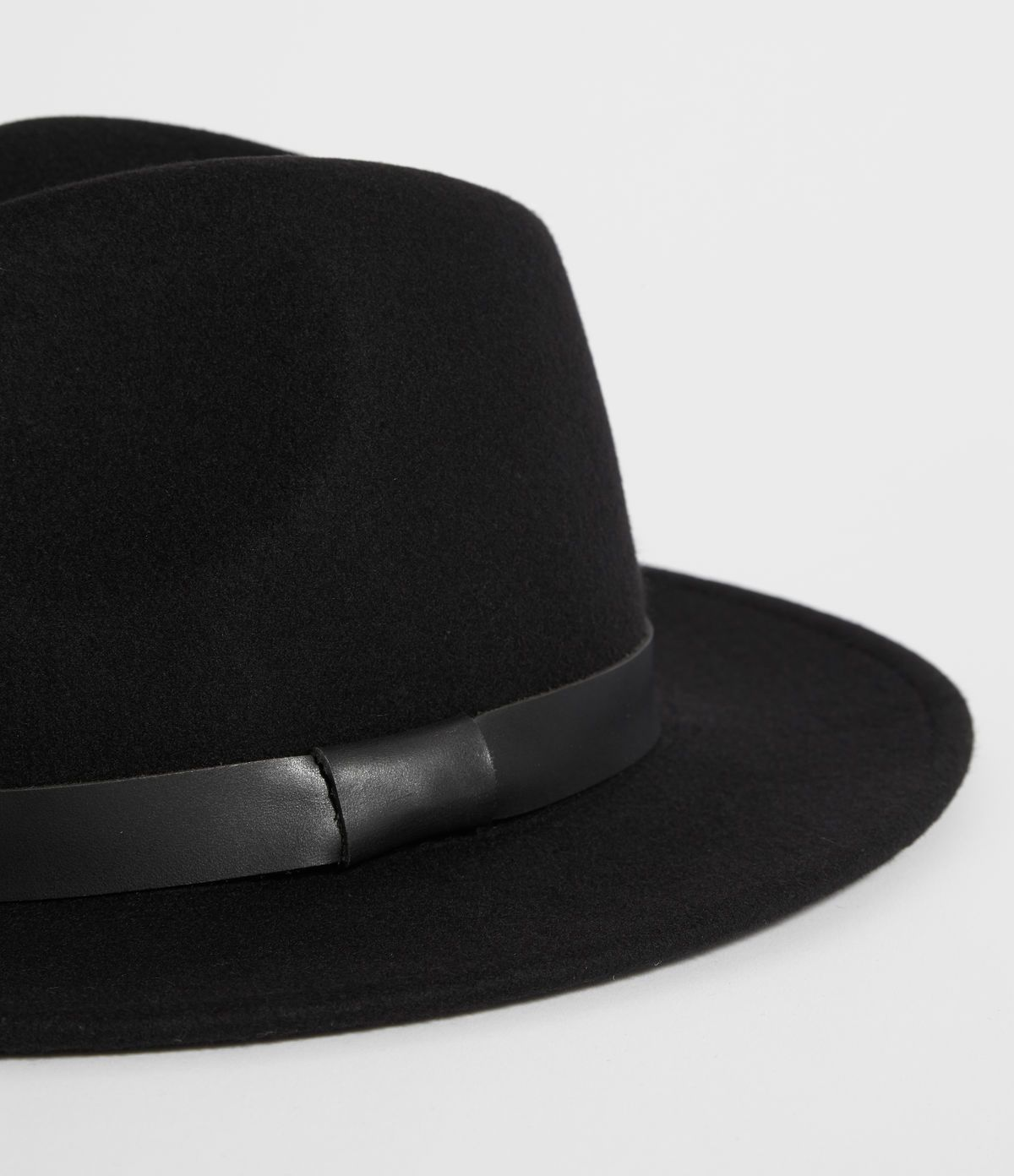 7e4a4aad41241 Men s Bronson Leather Fedora Hat (black) - Image 2