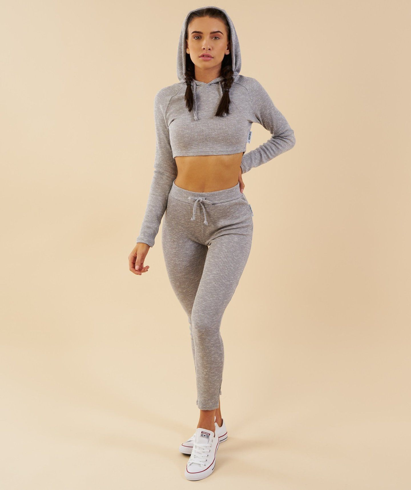 cost charm exclusive shoes many styles Gymshark Slounge Cropped Hoodie - Light Grey Marl | My Style ...