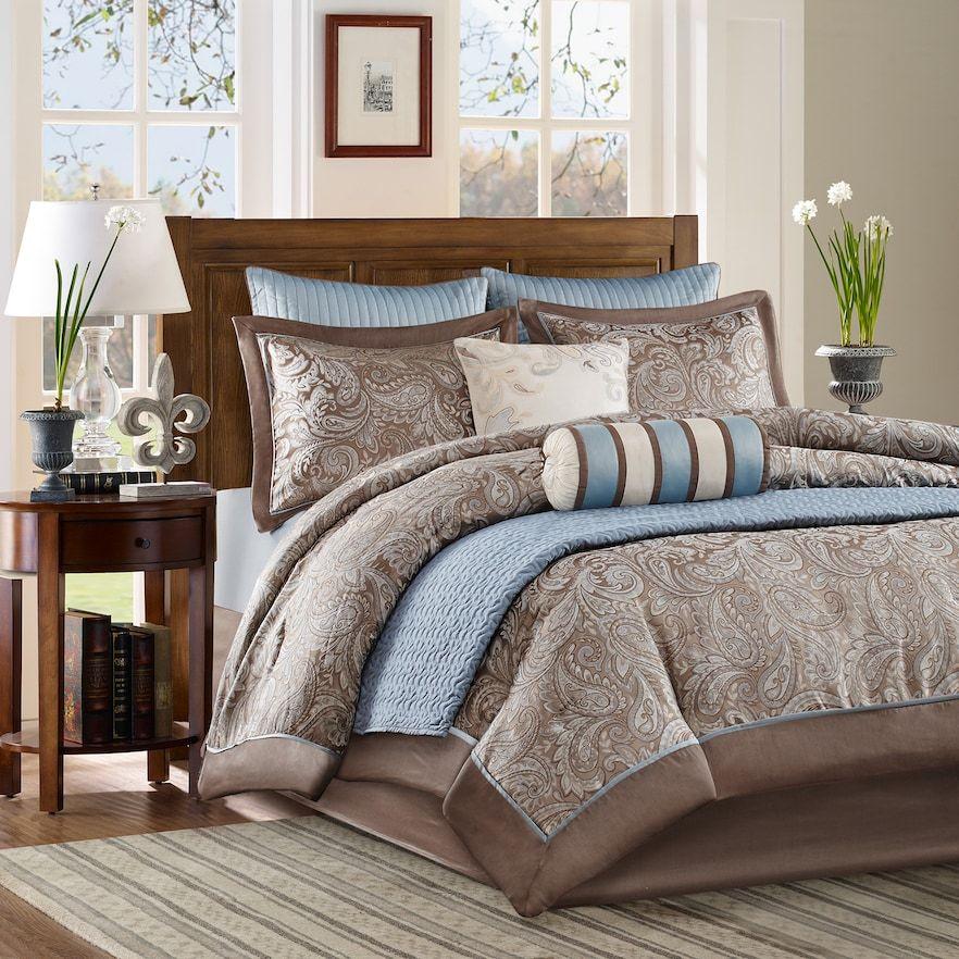 Madison Park Whitman 9 Piece Comforter Set Coverlet Comforter