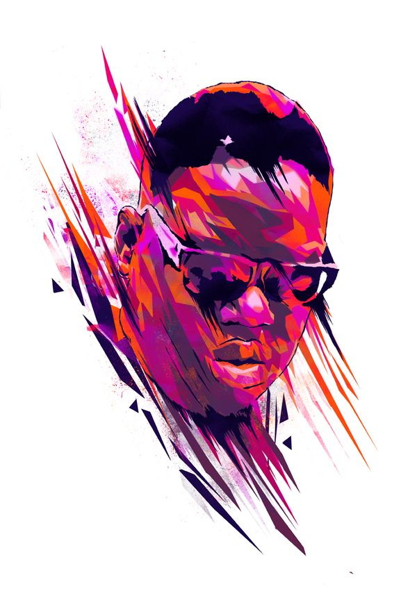 """The """"Dead Rappers"""" Series... very nice illustrations by Mink Couteaux. #notorious big"""