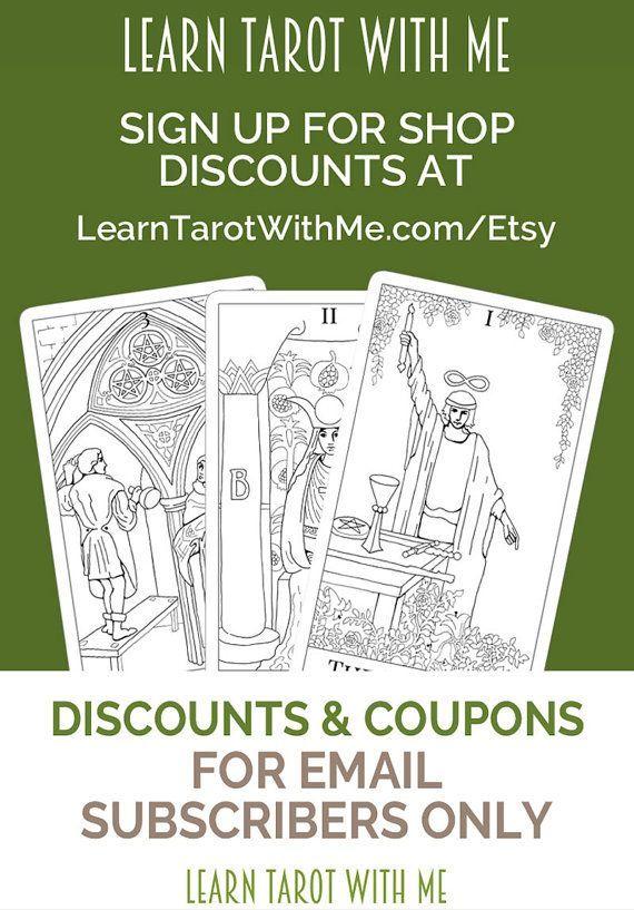 Tarot Card Cheat Sheet, a tarot printable for divination and tarot - email sign up sheet template