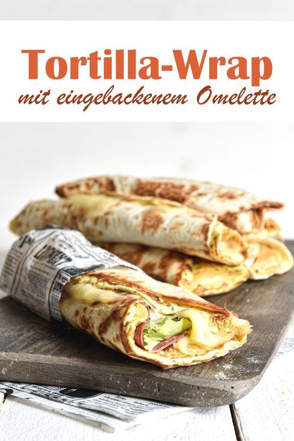 Tortilla-Wrap. Mit eingebackenem Omelett. Knaller!