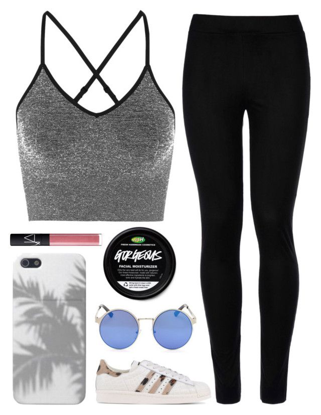 """""""Untitled #1575"""" by chill-outfits ❤ liked on Polyvore featuring Ivy Park, Wolford, adidas Originals and NARS Cosmetics"""