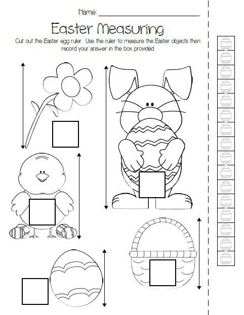 printable easter measuring activity pk arctic animals measurement activities measurement. Black Bedroom Furniture Sets. Home Design Ideas