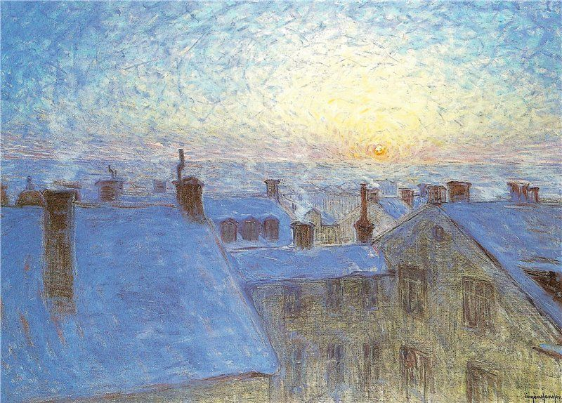"""Sunrise over the Rooftops"" by Eugene Jansson"