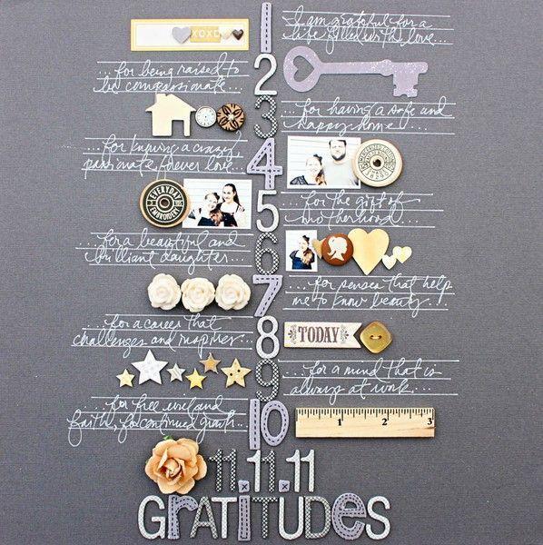 Gratitudes (Scrapbooking)...