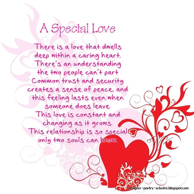Love poems someone special