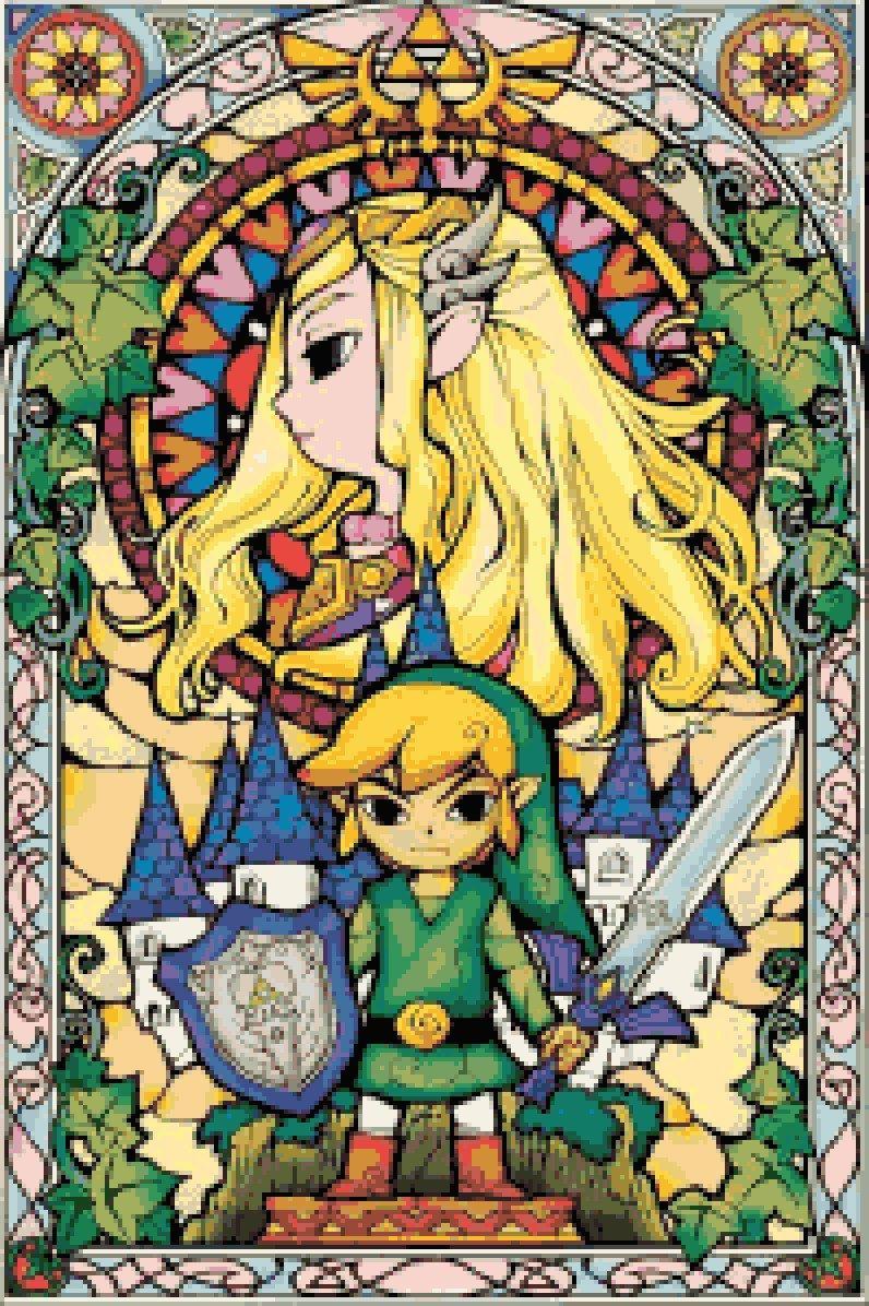 Legend Of Zelda Inspired Counted Cross Stitch Pattern Wind Etsy Zelda Art Legend Of Zelda Breath Wind Waker