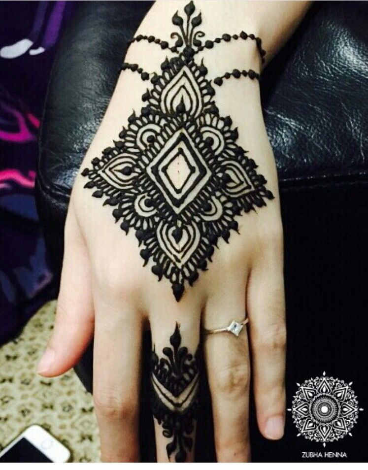 Easy Hand Henna Design Wrist To Hand To Middle Finger Brookes