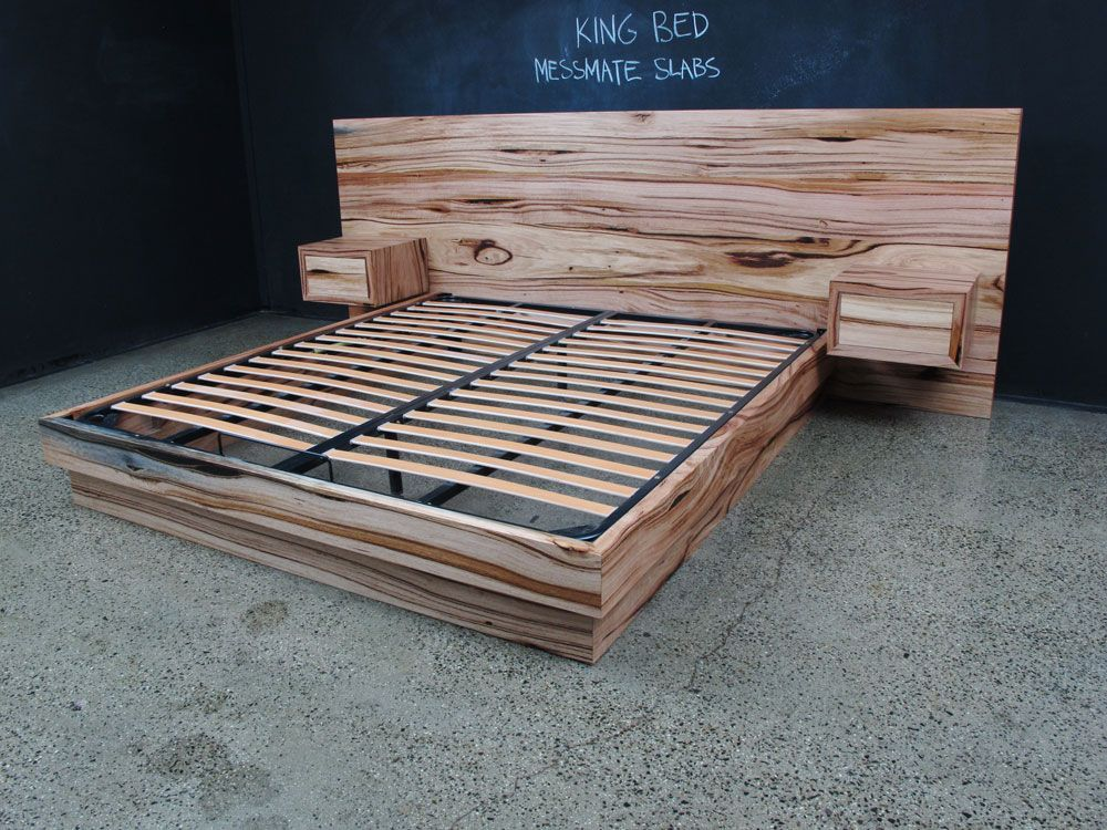 Messmate Flat head board incorporated bedsides | Christian Cole ...