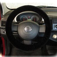 Steering wheel cover for wheel car accessories Black velvet wheel cover