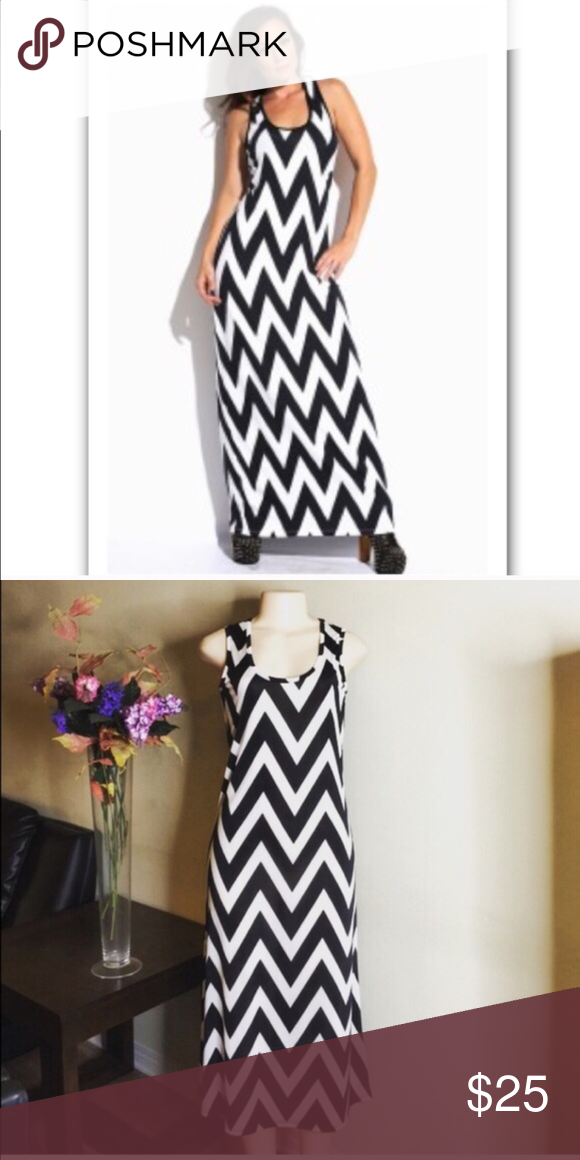 ✴️🆕Chevron Patter Dress🆕✴️ 100% Rayon. Shiny, cool material. Great for summer time! Dresses Maxi