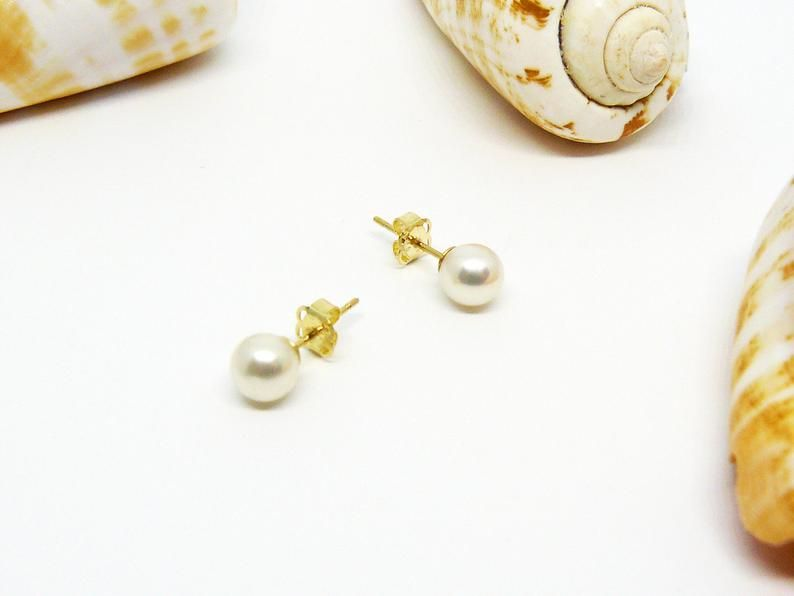 Perlenohrringe gold