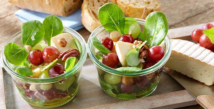 ALDI SÜD Rezept Feldsalat mit Weichkäse und Trauben