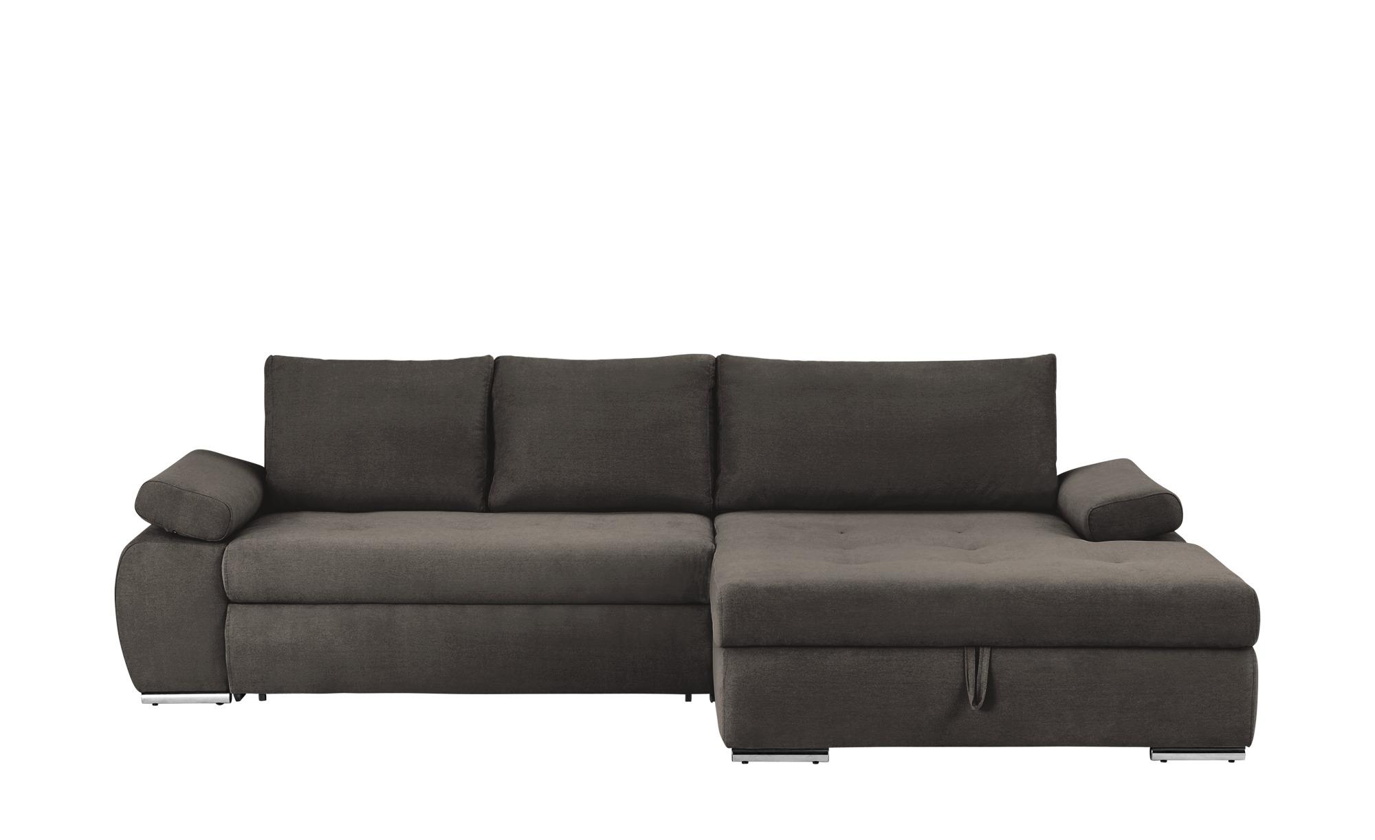 smart Ecksofa grau-braun - Flachgewebe Ibby | Sofa, Sofa ...