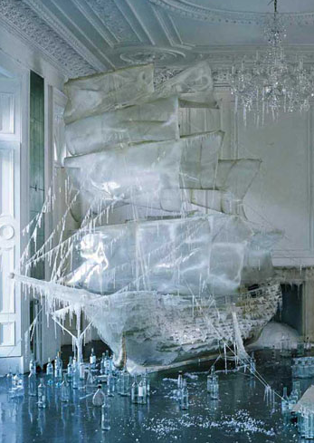 An ice galleon! How fab is that? Inspiration for A Crime of Fashion. #ModelUnderCover #CrimeofFashion