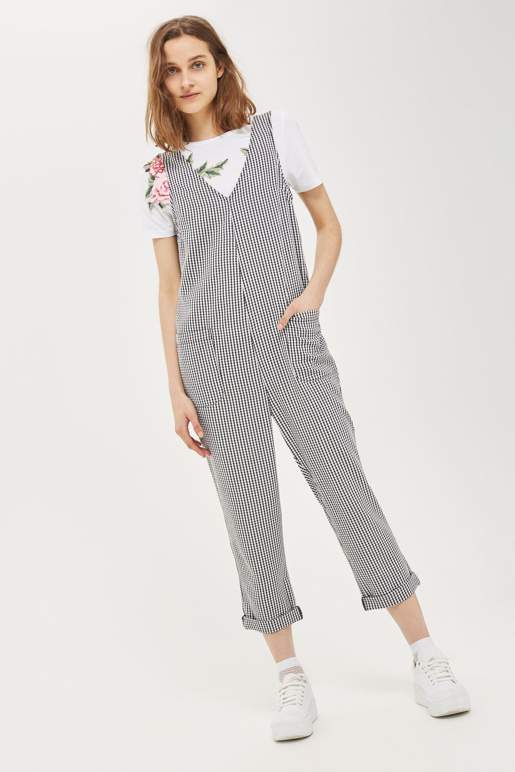 40484f9720b0 Carousel Image 2 Gingham Jumpsuit