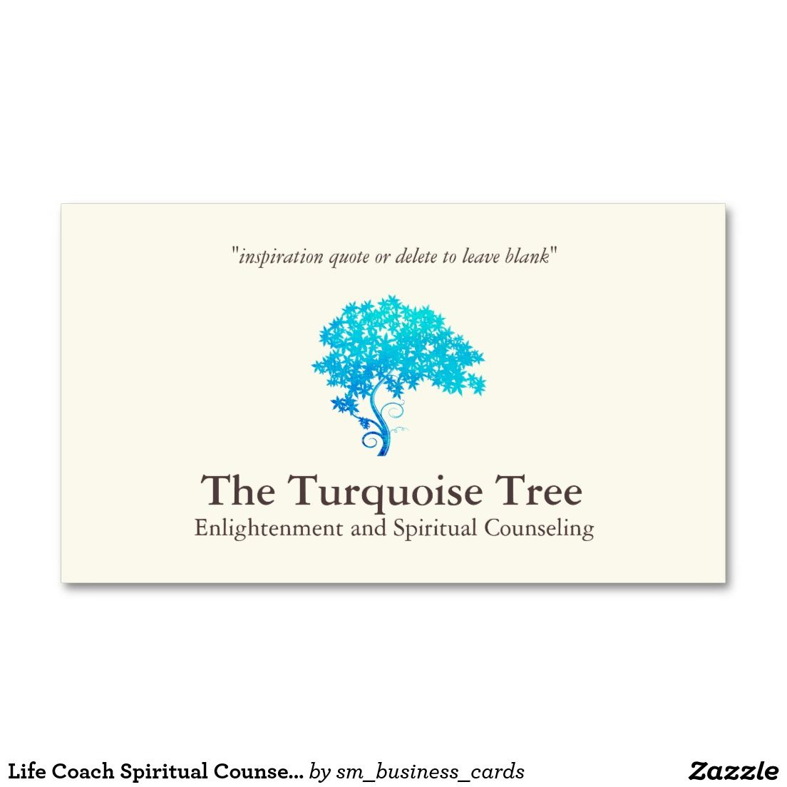 Life Coach Spiritual Counselor Turquoise Tree Double-Sided Standard ...