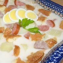 White Borscht Soup Recipe - Polish Bialy Barszcz - Zurek Wielkanocny - Recipe for Polish White Borscht Soup