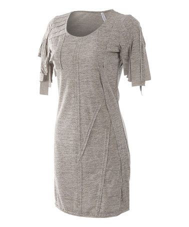Look what I found on #zulily! Gray Pleated Asymmetrical Dress #zulilyfinds