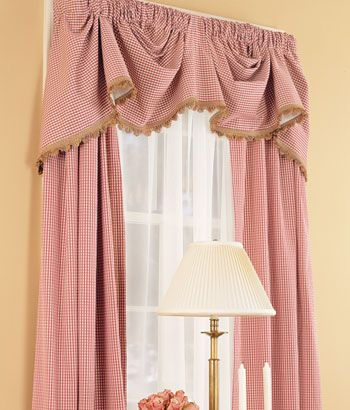 Colebrook Austrian Valance Dining room Color charcoal Country ...