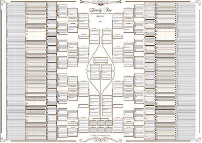 family tree chart 10 generation bow tie chart family tree chart