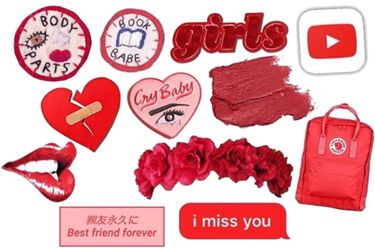 Red And Black Aesthetic Stickers