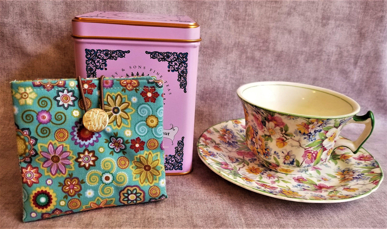 Floral Teabag Holder Floral Teabag Carrier Teabag Holder Teabag