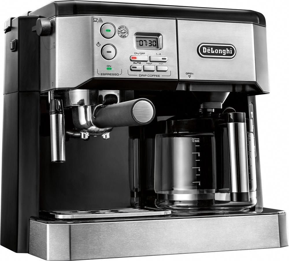 DeLonghi 10Cup Coffee Maker and Espresso Maker Stainless