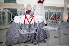 Monogrammed Ghost Chairs