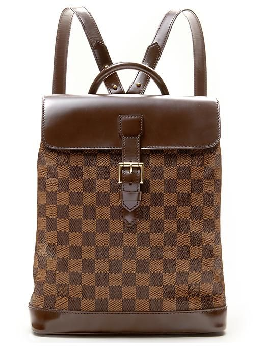 luxe vintage finds louis vuitton ebene damier soho backpack