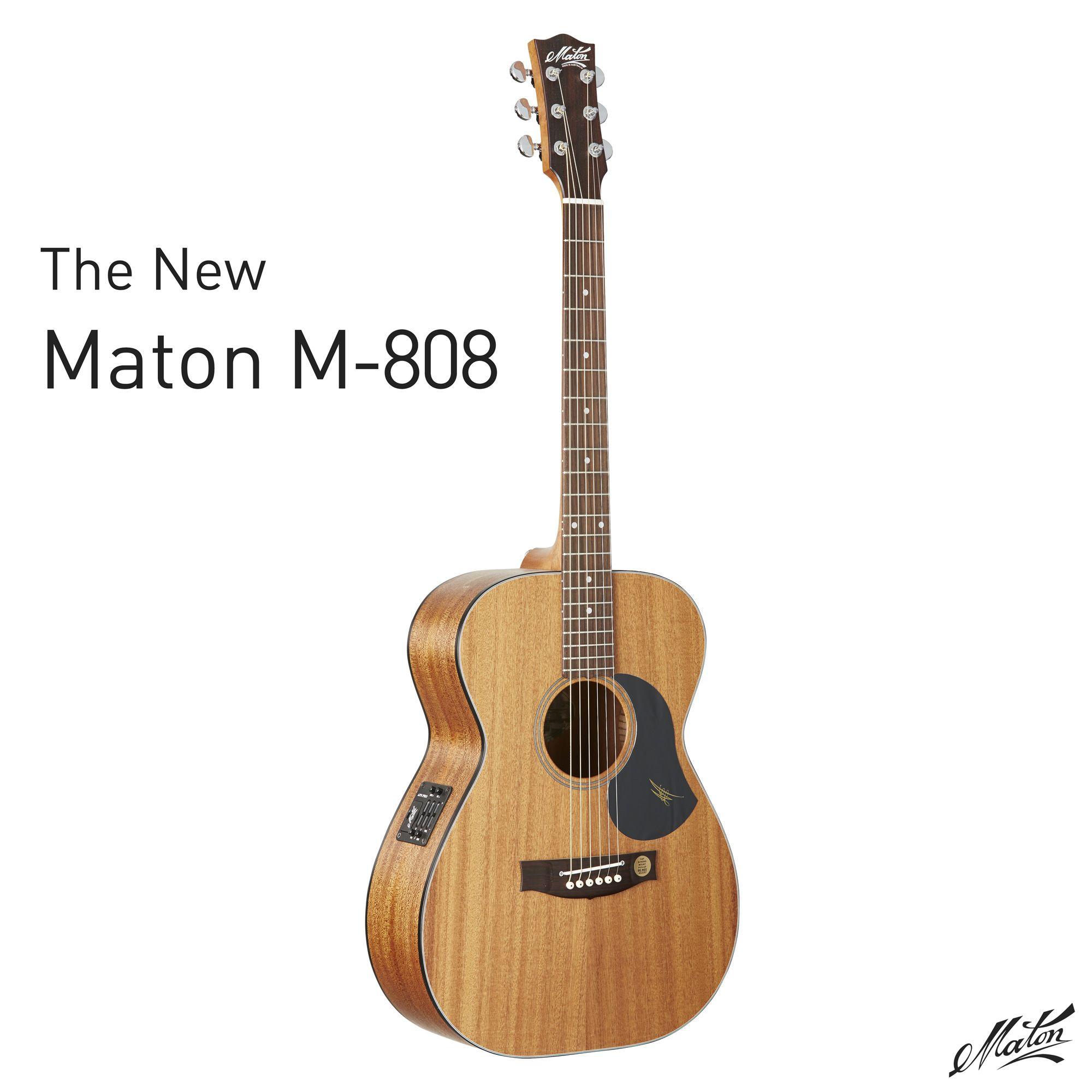 The New Maton M 808 Acoustic Guitar Handmade Mahogany For More Information Visit Http Go Maton Com Au Matonm808