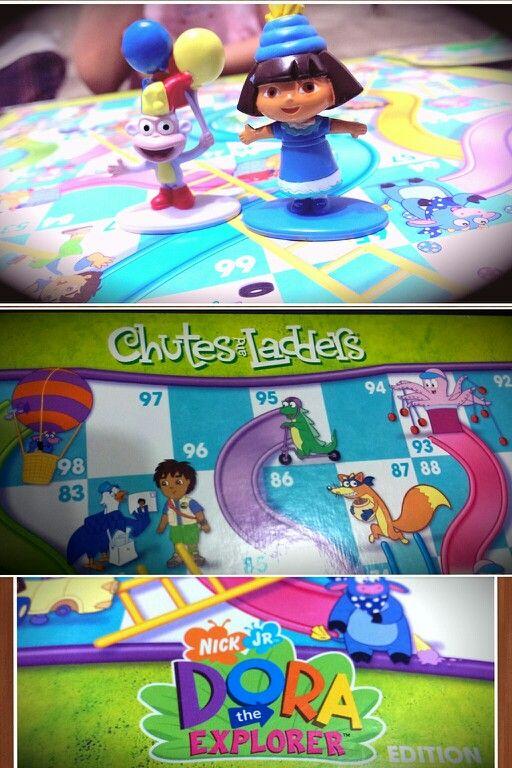 Chutes & Ladders-DORA Explorer. | Fun 4 Kids Play Ground ...