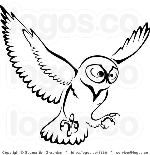 Royalty Free Owl Logo | Owl logo, Owl illustration, Black owl