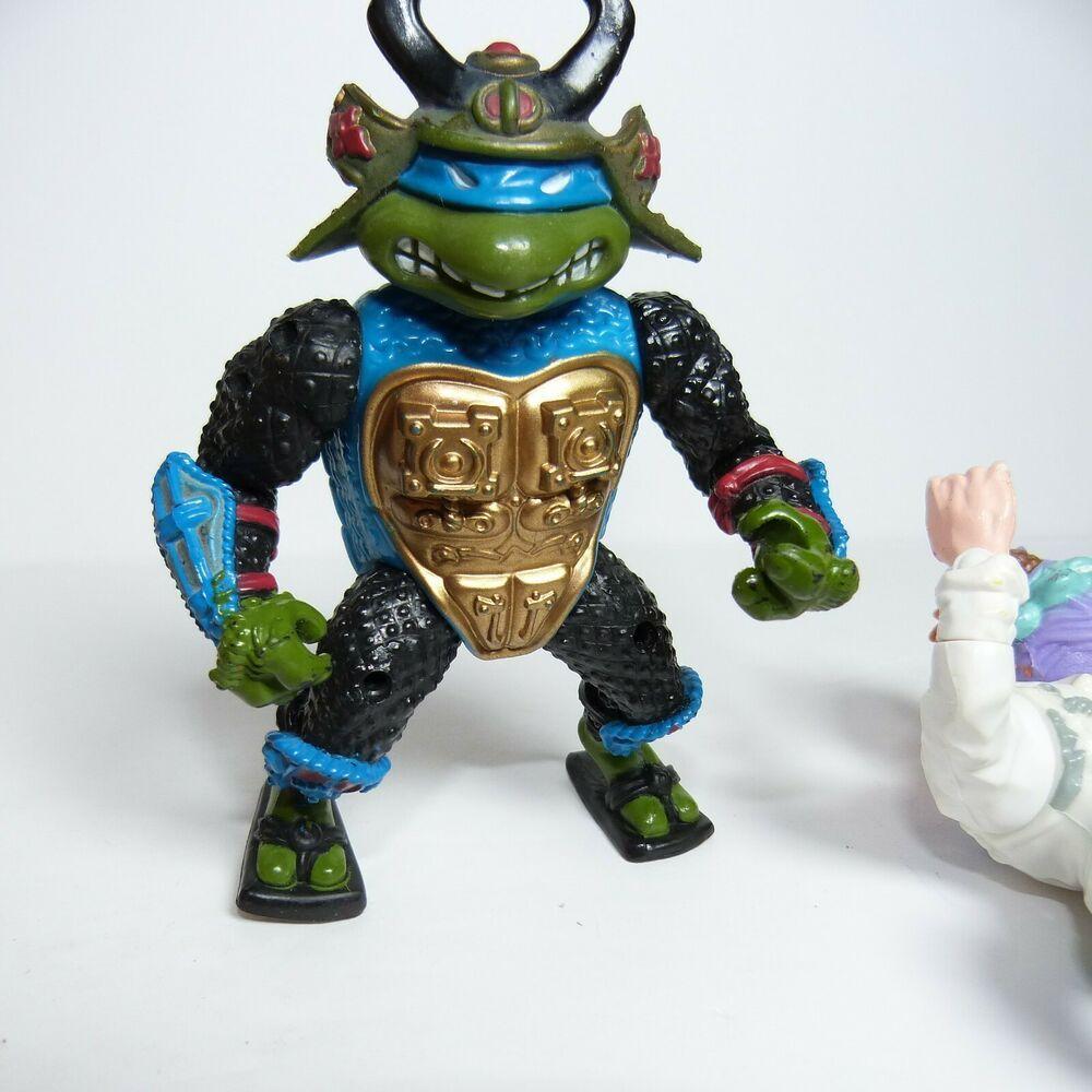 Teenage Mutant Ninja Turtles Leo the Sewer Samurai complet 1990 action figure