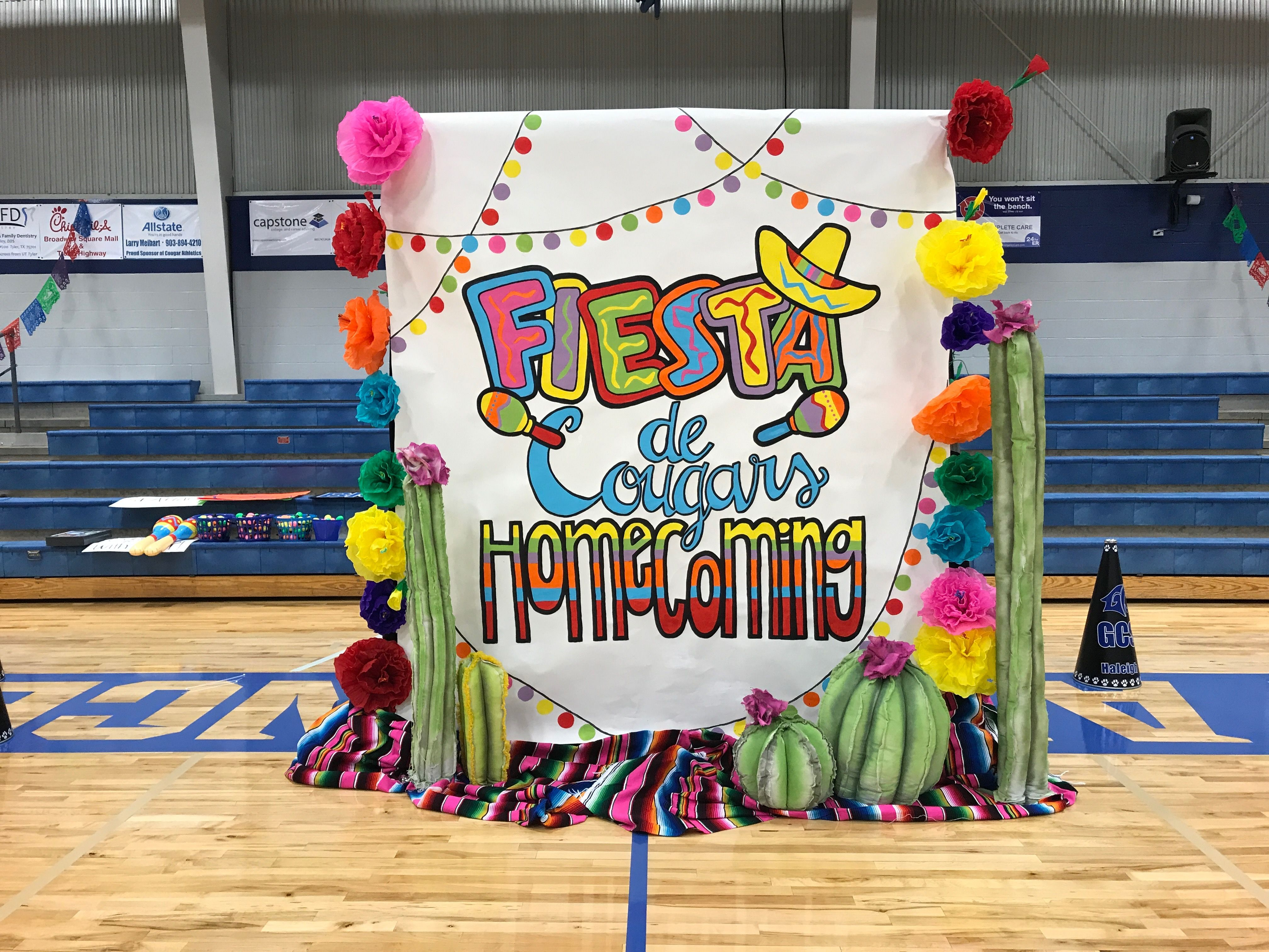 Fiesta Themed Pep Rally 10 6 17 Gym Decorations Pep Rally Pep Rally Themes Pep Rally Games