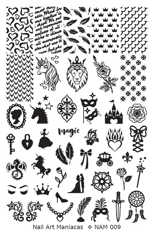 Placa Nail Art Maniacas N 9 Plantillas De Tatuajes