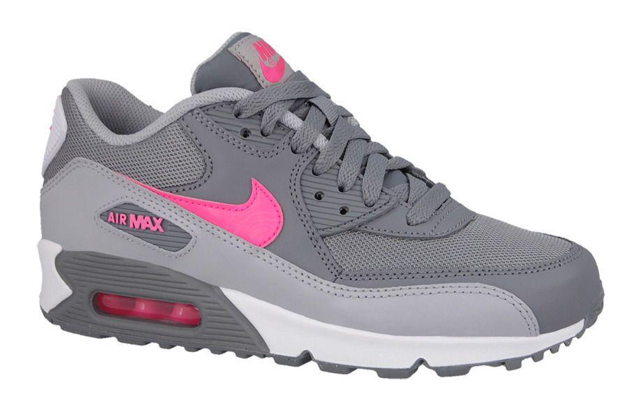 Girls Nike Air Max 90 Mesh (PS) 724856 007 Cool GreyHyper