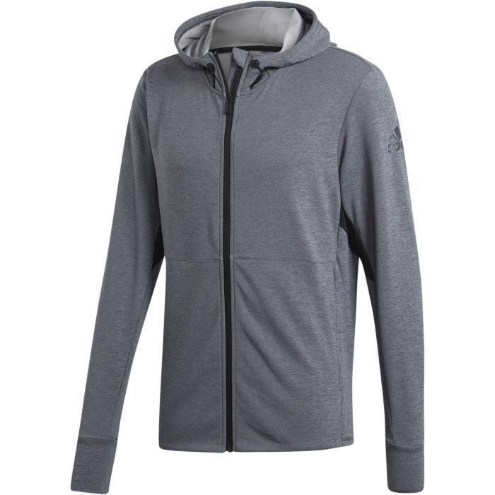 ADIDAS Sweatshirt Fz Climacool Homme Noir #bonnets