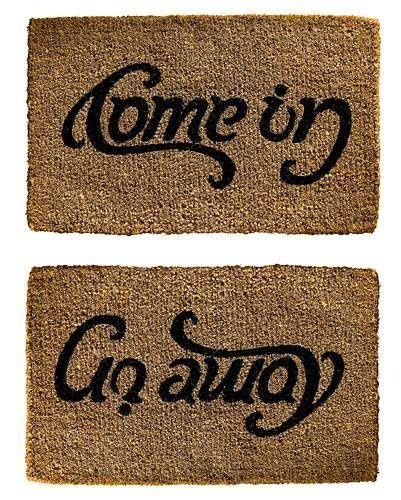 Come In Or Go Away Doormat Funny Pics