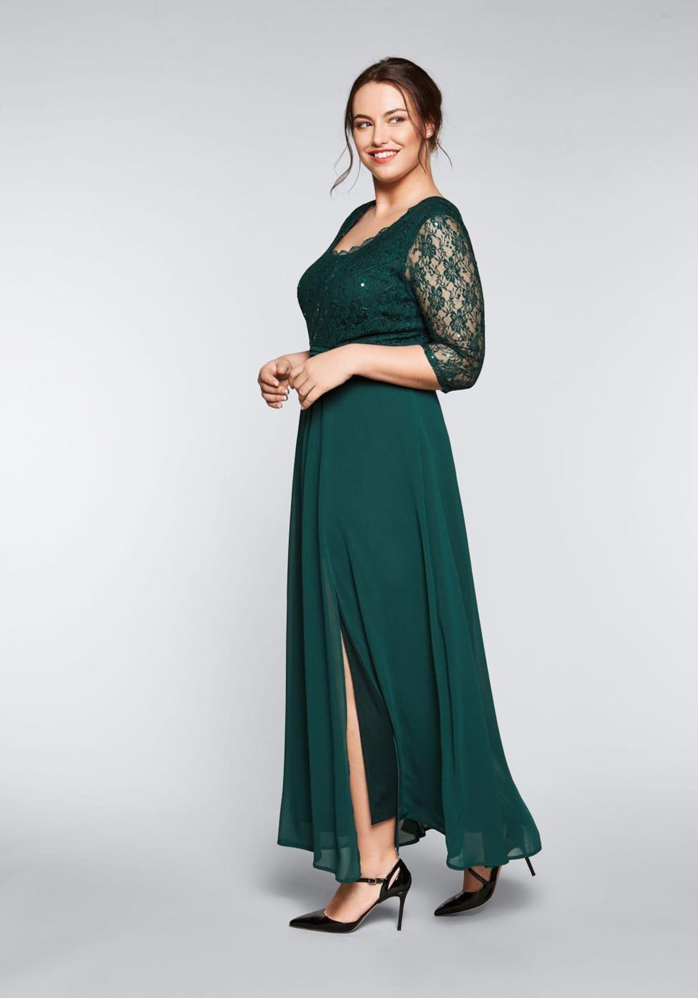 SHEEGO Abendkleid Damen, Grün, Größe 15  Abendkleid, Kleider und