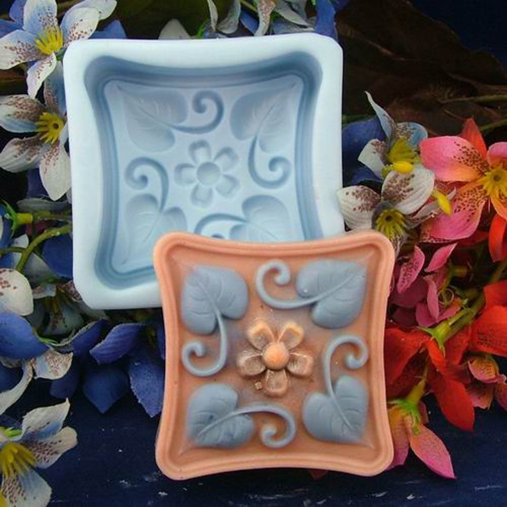 SDONG Flower And Leaf S312 Craft Art Silicone Soap mold