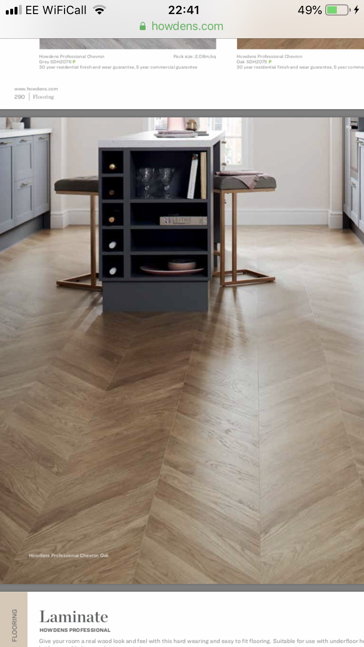 Flooring From Howdens Herringbone Laminate Flooring Wooden Kitchen Floor Flooring