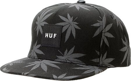 HUF Plantlife Black   Grey Snapback Hat at Zumiez   PDP 6fb0bbb5a3da