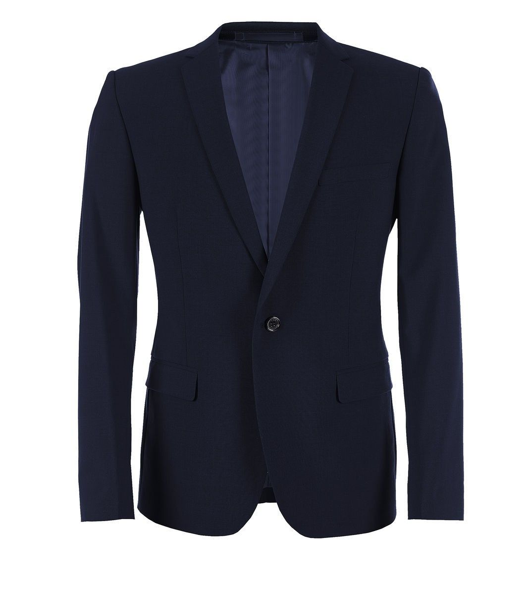 Main: 50% Wool, 47% Polyester, 3% Lycra Lining: 100% Polyester  Dry Clean Only