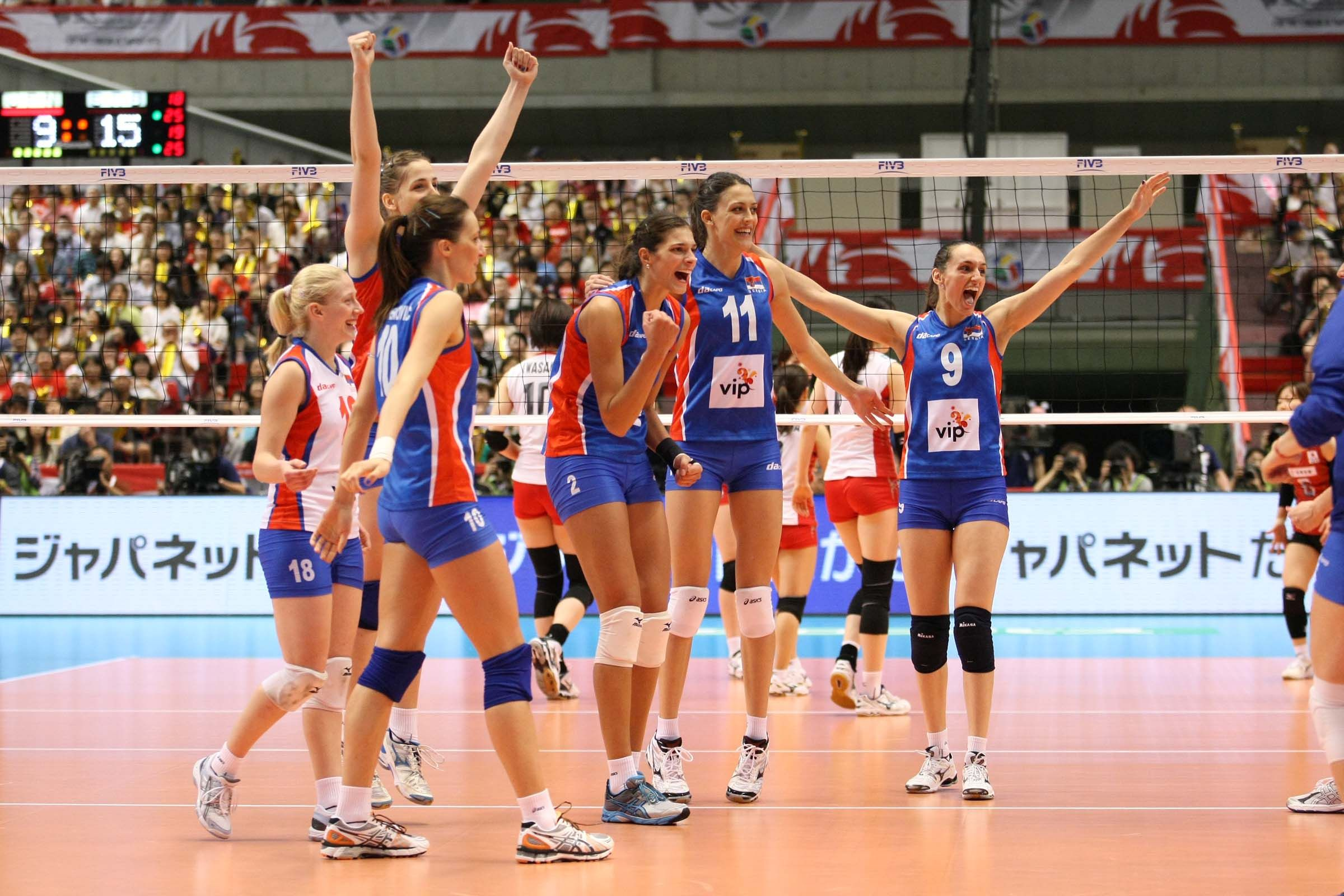 Serbia Women Women Volleyball Volleyball Team Serbian Women